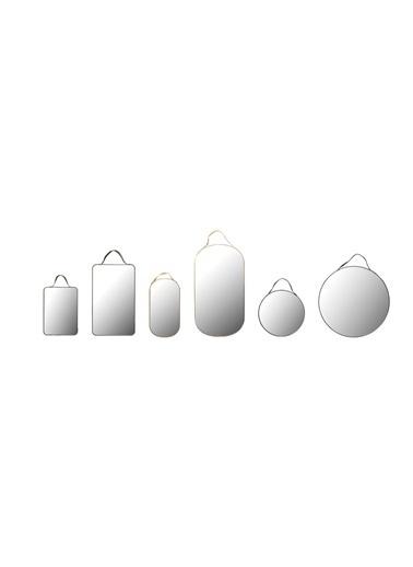Warm Design 6'Lı Set Dekoratif Aynalar Renksiz